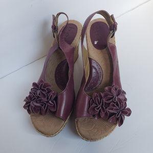 Boc wedge sandals